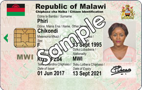 Sample of the current National Identity Card